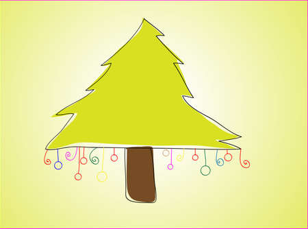 christmas tree  Stock Vector - 16709115
