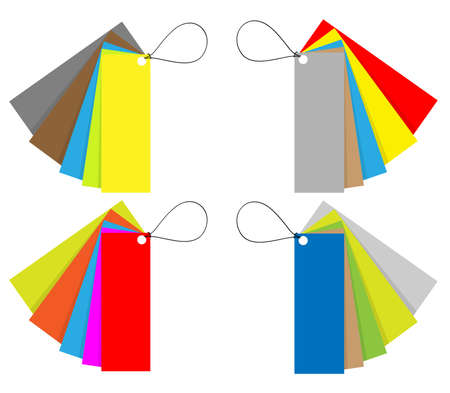 price and labels tag set in 12 colors  Illustration