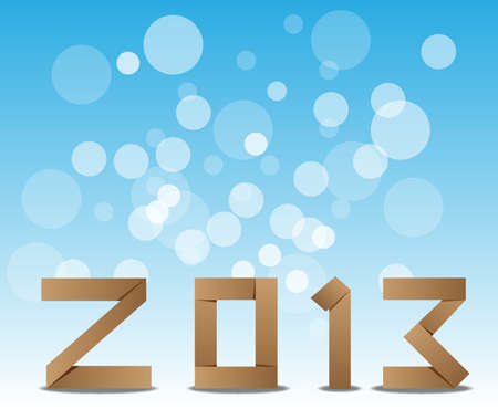 2013 Happy New Year greeting card or background  Vector illustration Stock Vector - 16767520