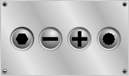gimlet: Head bolts Vector  Illustration