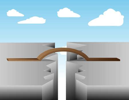 splitting: Crack bridge