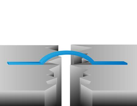 Crack bridge   Vector