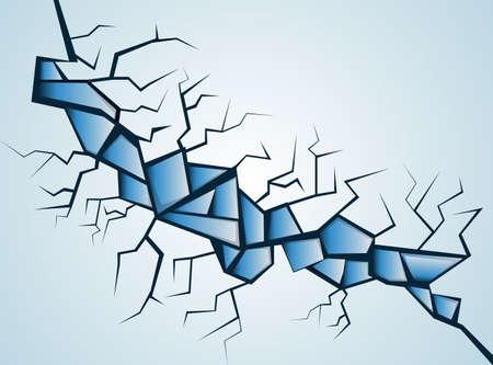 Broken glass   Stock Vector - 18092841