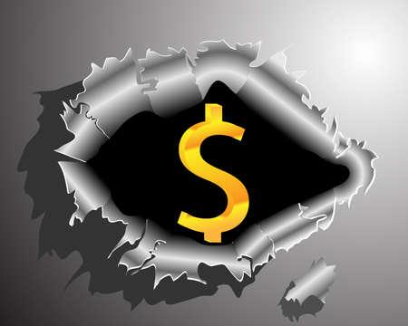 Crack money Stock Vector - 18092837