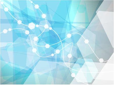 gene: Abstract moleculen behang, medische achtergrond