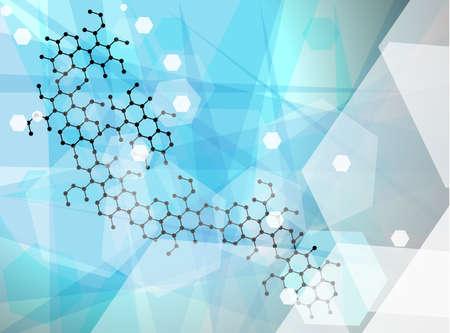 추상 분자 벽지, 의료 배경 일러스트