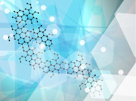 Abstract molecules wallpaper, medical background  Vector