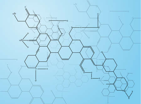 3 차원 분자 구조의 추상 이미지는 10 EPS