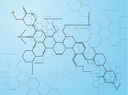 Abstracte beelden van moleculaire structuren in 3D Eps 10