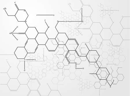 Molecule background vectors Vector