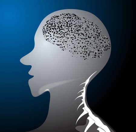 Human body headers molecules Stock Vector - 21983865