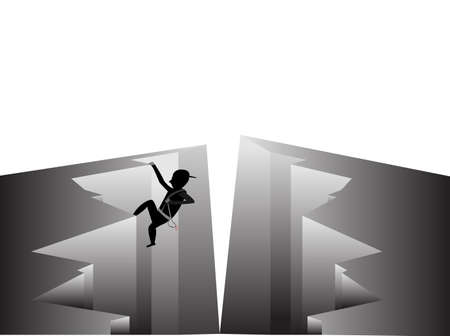 climbed in the cracks Stock Vector - 21983886