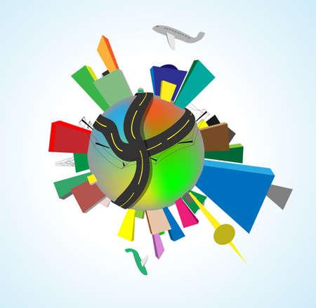 precise: Earth perfect precise machine  World population, human impact Illustration