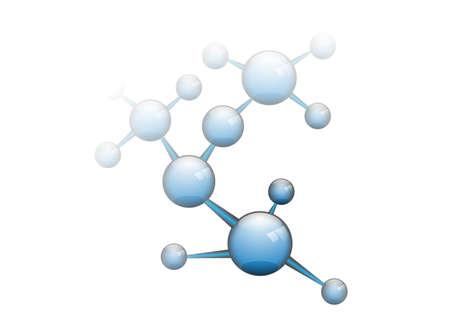 Molecuul En Communicatie Achtergrond - Vector Illustratie