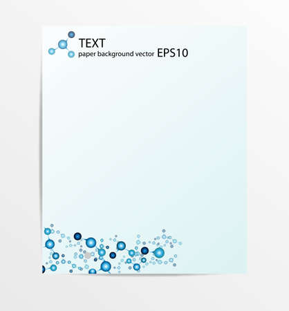 paper molecule background vector Stock Vector - 22567294