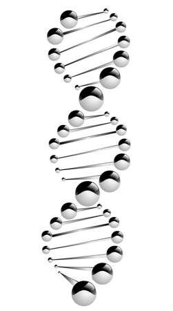 DNA molecule, showing its destruction  Eps 10
