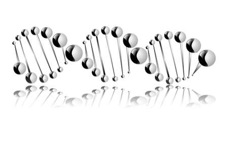 DNA molecule, showing its destruction  Eps 10 Stock Vector - 22567303