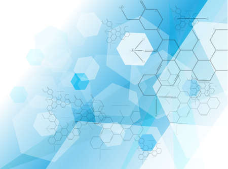 molecule background: molecule Medical background Vector