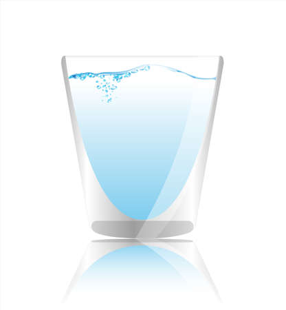illustration with glass  Vector