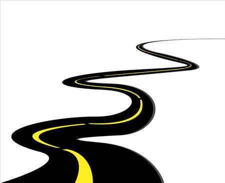 winding roads: road illustration