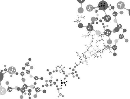 dna background: DNA strand against colour background  Illustration