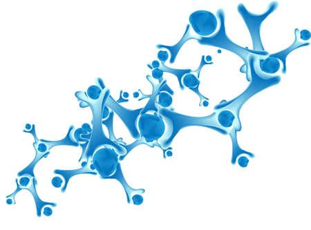 Futuristic dna, abstract molecule, cell illustration eps10 Stock Vector - 24007282