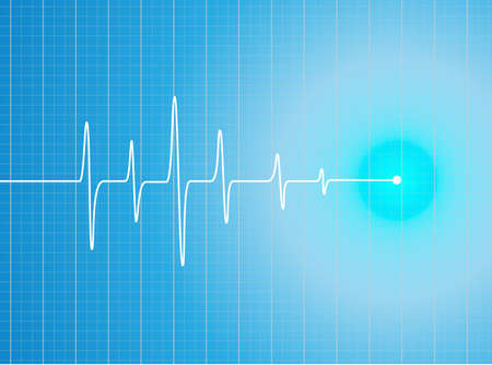 ekg: EKG Abstract heart beats cardiogram illustration - vector