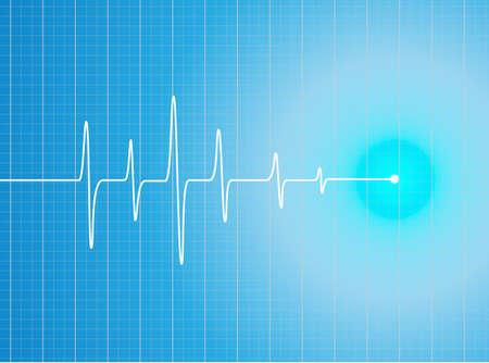 EKG Abstract heart beats cardiogram illustration - vector