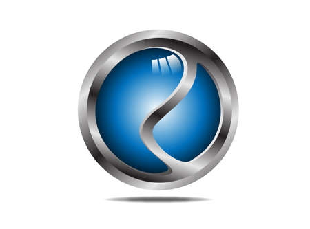 blue sphere: Hi-tech blue sphere  Vector  Editable