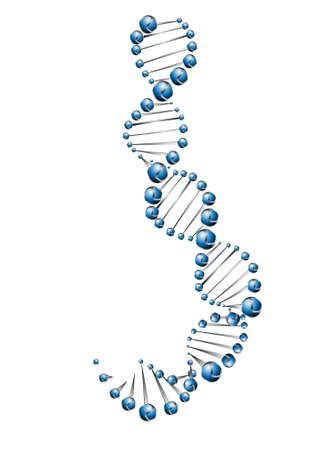 DNA molecule structure background Stock Vector - 24056961