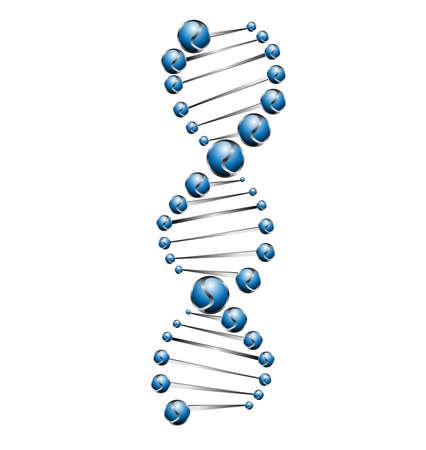 DNA molecule structure background Stock Vector - 24056962