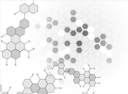 분자 의학 염색체 벡터 일러스트