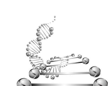 DNA molecule structure background   Stock Vector - 24056973
