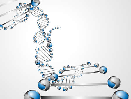 genetic research: DNA molecule structure background   Illustration