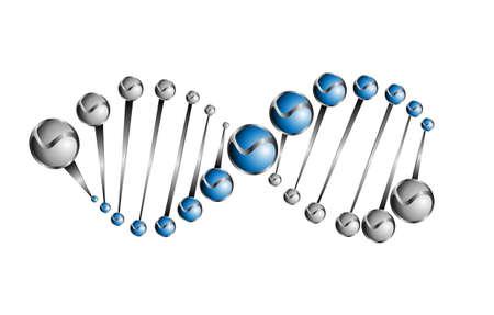 Estructura de la molécula de ADN de ilustración de fondo vector eps10