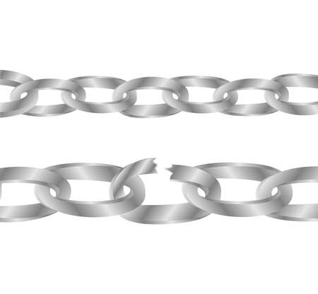 broken link: chain with the broken link