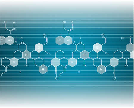 life science: Molecule background Vector