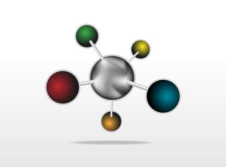 Molecular Medicine chromosome vector  Stock Vector - 24616639