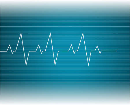 Abstract heart beats cardiogram illustration - vector  Vector