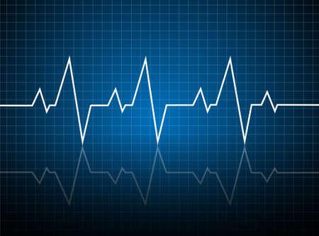 Abstract heart beats cardiogram illustration - vector  Illustration