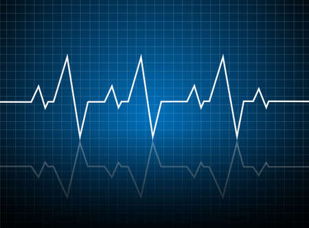 Abstract heart beats cardiogram illustration - vector  Çizim