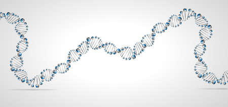 wreckage: DNA molecule structure background   Illustration