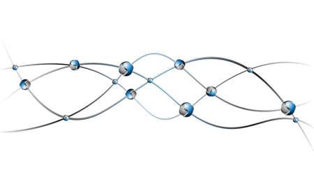 DNA molecule structure background  vector illustration Stock Vector - 24900194