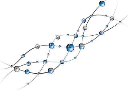 DNA molecule structure background  vector illustration