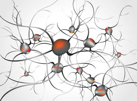 nervenzelle: Im Inneren des Gehirns Konzept der Neuronen und Nervensystem Vektor
