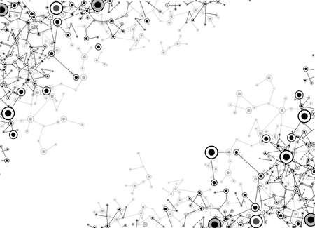 macromolecule: dna molecule, abstract background  Illustration