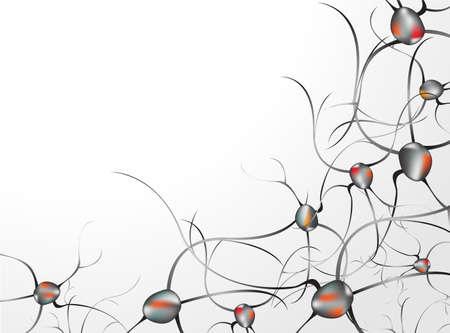zenuwcel: In de hersenen Concept van neuronen en het zenuwstelsel vector Stock Illustratie