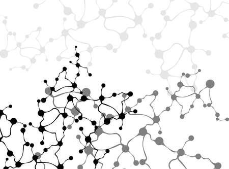 Moleculen in de hersenen Concept van neuronen en het zenuwstelsel vector