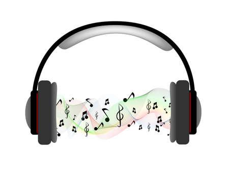 partition musique: Casque Musique Score Vecteur