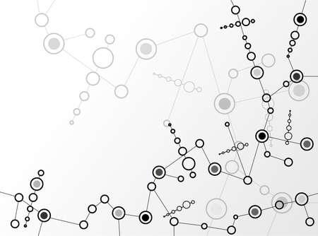 cellule nervose: Molecole sfondo Vector Vettoriali